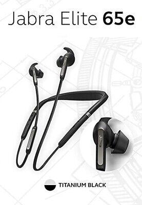 Jabra Elite 65E Alexa Wireless Bluetooth Neckband ANC Earbuds Titanium Black