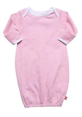 (Zutano Candy Stripe Hot Pink Night Gown 6 Months 100% Cotton Retail $25 Quality)
