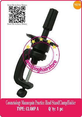 Lace Wig Stand Cosmetology Mannequin Practice Head Manikin Holder Stand Clamps