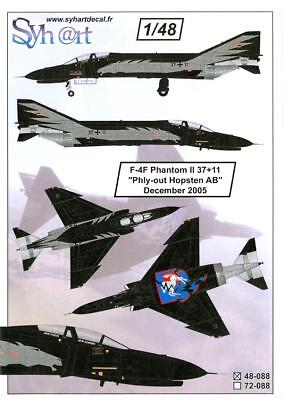 """Syhart Decals 1/48 F-4F PHANTOM II 'PHLY-OUT HOPSTEN AB"""" December 2005 for sale  USA"""