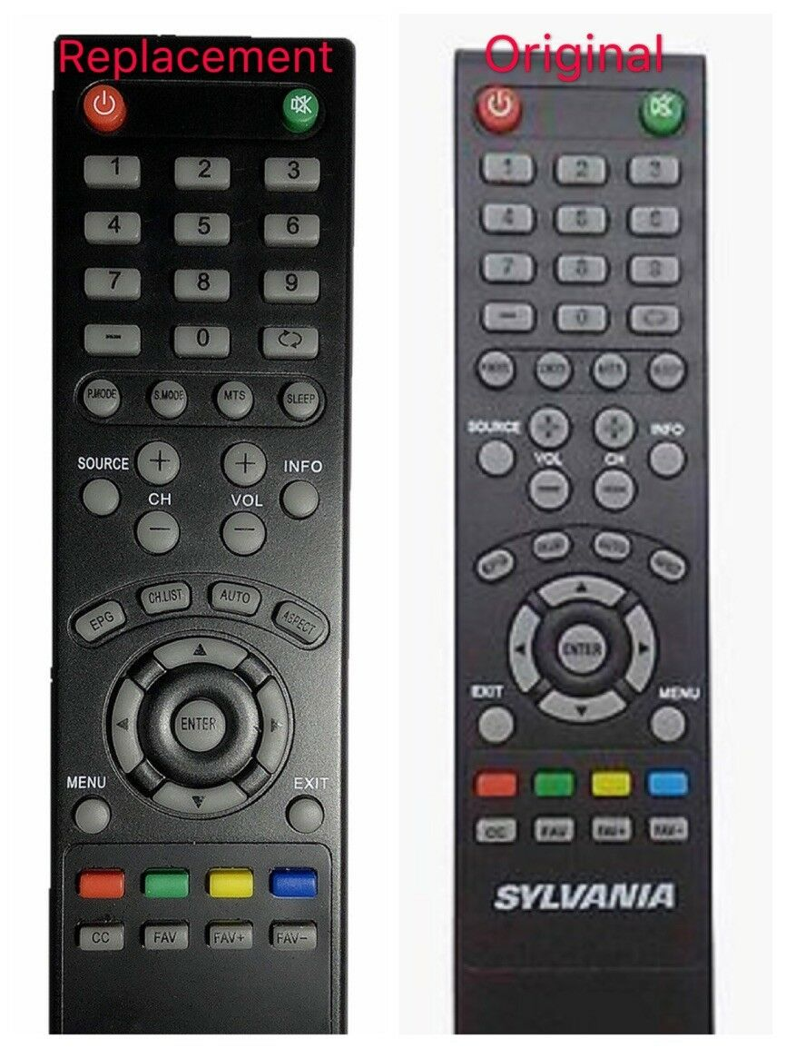 New Replaced SYLVANIA Remote Control for Sylvania LED LCD Sm