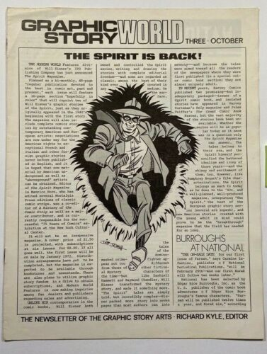 Graphic Story World #3 The Spirit Asterix October 1971 Fanzine LotB