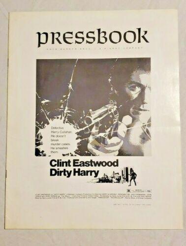 1971 Clint Eastwood Dirty Harry Warner Bros Advertising Pressbook COMPLETE!!!