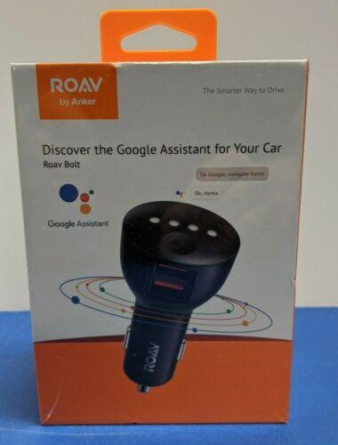Anker ROAV Bolt 2-Port USB Car Charger with Google Assistant R5360 Black NEW