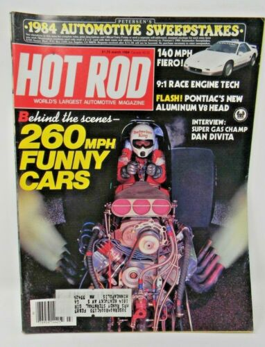 Hot Rod Magazine March 1984 - 260mph Funny Cars