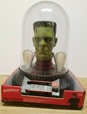 Monsterville Frankenstein Head Talking Universal Monsters Target Lights Animated for sale  Shipping to Canada