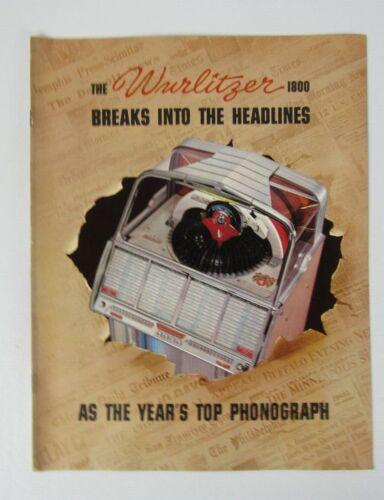Original Wurlitzer Model 1800 Jukebox Advertising Flyer/ Booklet