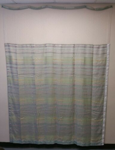 "LOT OF 3 HOSPITAL PRIVACY CURTAINS - FLAME RETARDANT  207"" W x 94"" L"