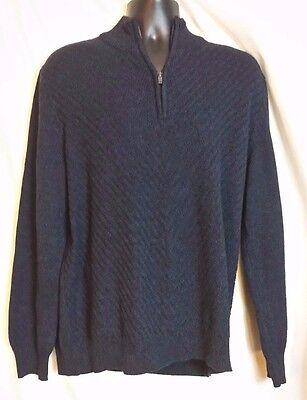 Men's Calvin Klein Jean's Cotton Blue Half Zip Sweater Sz XL
