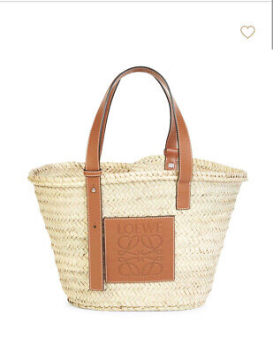 NWT Authentic Loewe Raffia Basket Tote Bag Medium