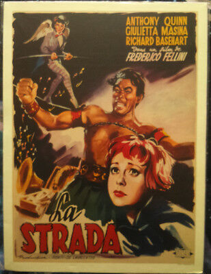 Movie POSTER.Fellini La Strada.Home Studio Room wall decoration art print.q633