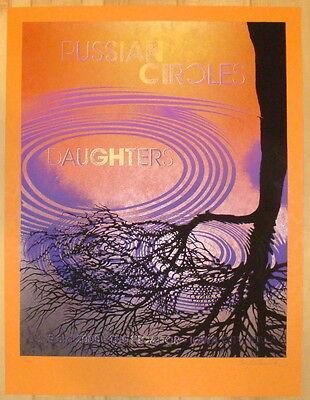 2008 Russian Circles w/ Daughters - Silkscreen Concert Poster by Michael Munter