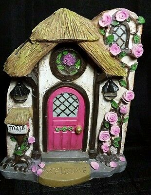"Solar Fairy Gnome ""Briar Rose"" Door -Windows and Lights, Light Up Indoor/Outdoor"