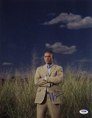 Wentworth Miller Signed 11X14 Photo Prison Break Psa Dna Autographed