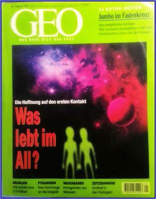 GEO Magazin  1/1998     Was lebt im All