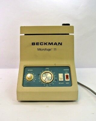 Beckman Microfuge 11 Benchtop Centrifuge W 12 Place Rotor Great Shape