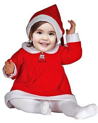 Weihnachtskostüm Baby Mädchen - Weihnachtsmann Kostüm Baby Kinder Nikolaus 42521 ()