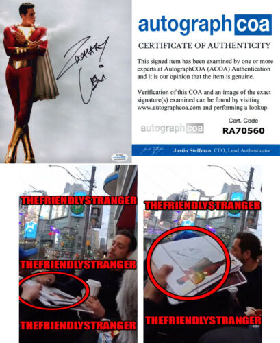 "ZACHARY LEVI signed Autographed ""SHAZAM"" 8X10 PHOTO G - EXACT PROOF - ACOA COA"