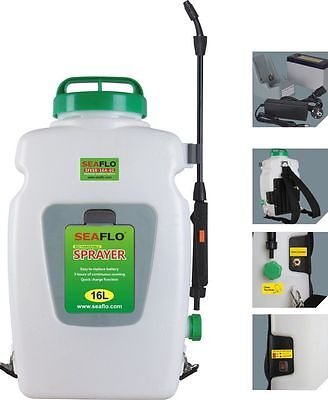- Seaflo Backpack Agricultural Electric Sprayer 16L  12-volt Rechargeable Battery