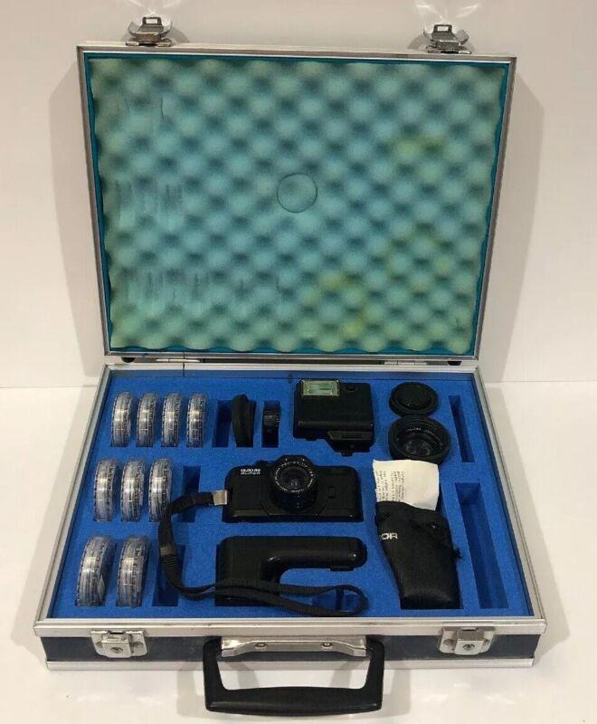 Pentax Auto 110 Super Subminiature Camera Lens Filters Soligor With Case