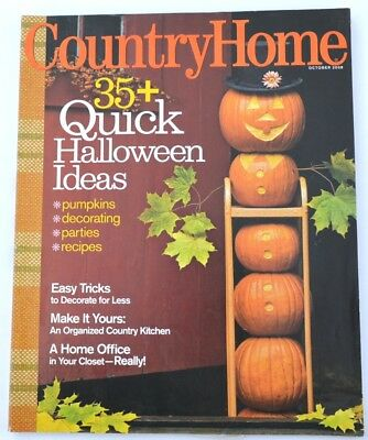Country Home Magazine - October 2008 - Quick Halloween Ideas, Decorate for Less - Decorations Ideas For Halloween