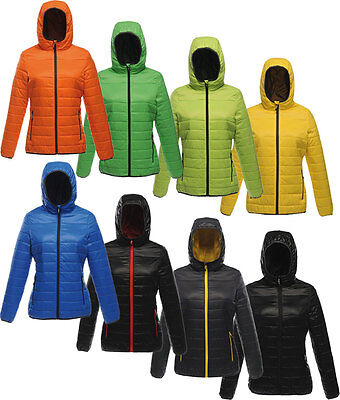 Regatta Ladies Down Touch Padded Hooded Outdoor Jacket Showerproof Shaped Fit