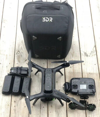 3DR Solo Drone W/4 Batteries Gimbal Back Pack Carry Case