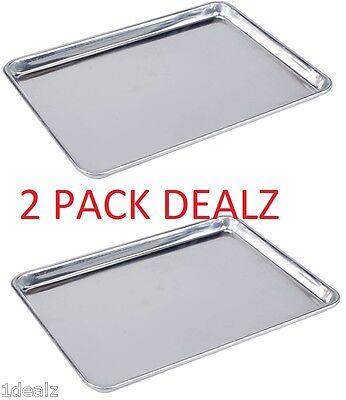 18 x 13 Half Size Aluminum Sheet Pan Commercial Grade for Baking 2 pack + Bonus