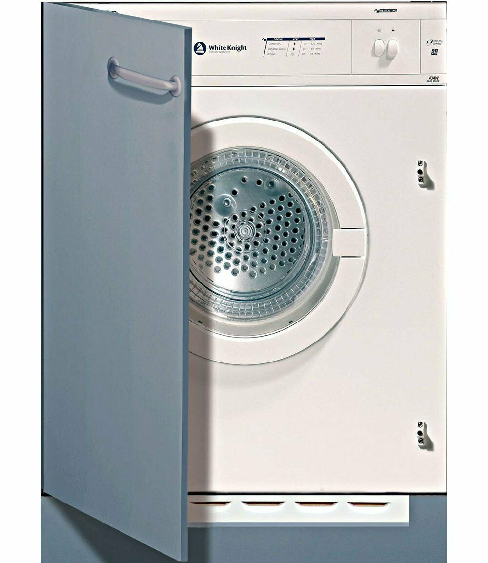 White Knight Built In Integrated Vented Tumble Dryer 6kg C43AW UK ref 7089