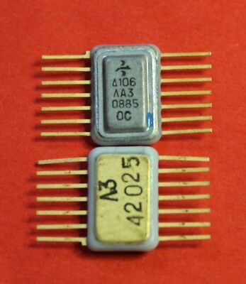 106la3 Ic Microchip Ussr Lot Of 2 Pcs