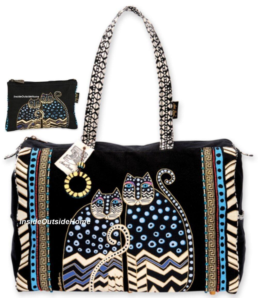 Travel Bag W/Zipper Top 21X8X14-Spotted Cats