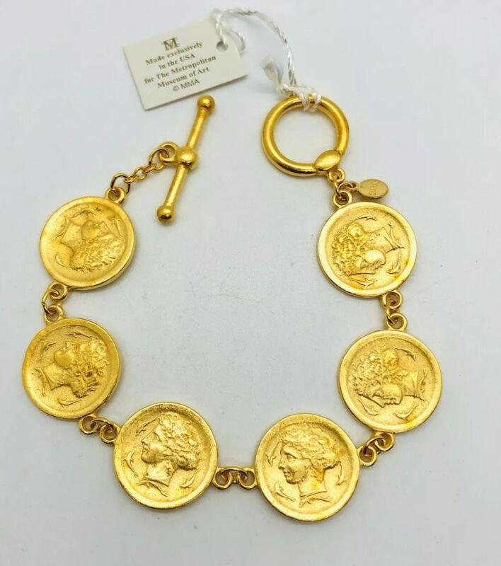 MMA Metropolitan Museum Art Ancient Roman Coin Bracelet Orig Tag Vintage Jewelry