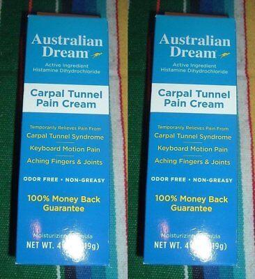 2 Pack - Australian Dream - Carpal Tunnel Pain Cream - 4 Oz - Exp -