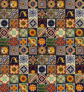 100 Mexican Talavera Ceramic Tiles 4