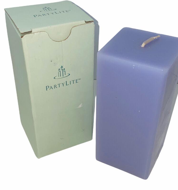 PartyLite FRENCH LILAC 3 x 6 Square Pillar Candle K06671 New NIB Purple Whisper