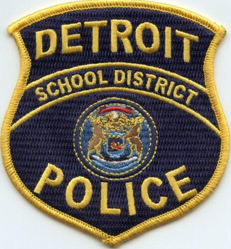 DETROIT MICHIGAN MI SCHOOL DISTRICT POLICE PATCH