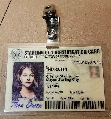 Arrow ID Badge - Thea Queen Mayor Office cosplay prop costume  - Mayor Costume