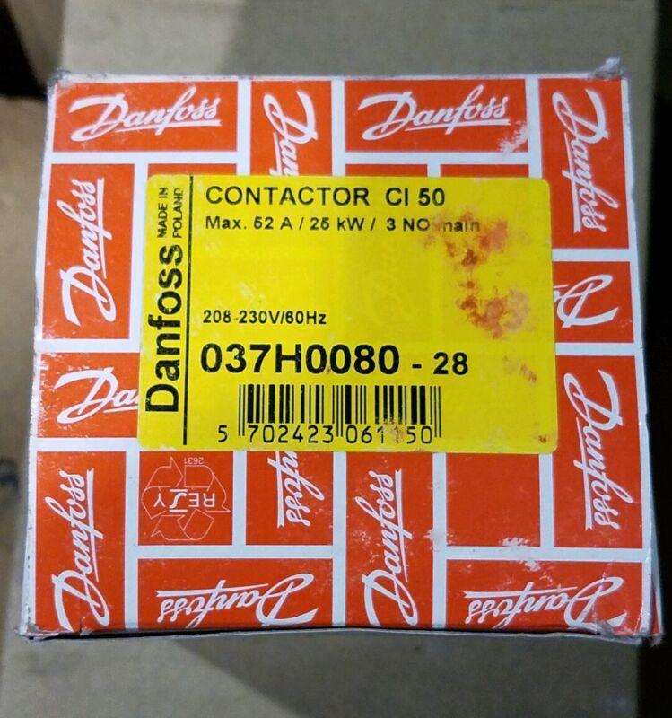 037H0080-23 Danfoss NEW In Box 110VAC 52A Contactor Relay