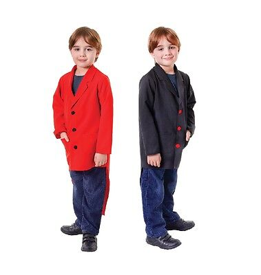 Child Boys Tailcoats Black Or Red Fancy Dress Costume Ring - Tailcoats Kostüm
