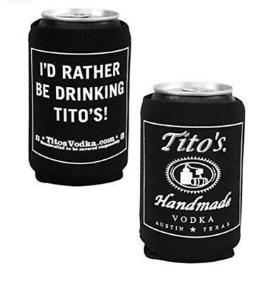 Tito's Vodka Koozie Drink Cooler Holder Neoprene - Set of Two (2) - New & F/S for sale  Springfield