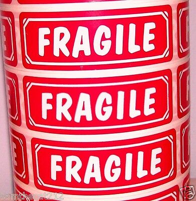 250 Big 1x3 Fragile Label Sticker