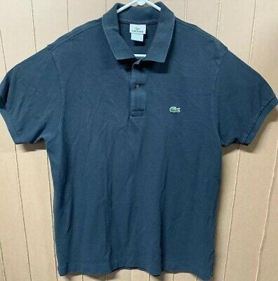 Lacoste Polo Rugby Shirt; Mens 7; Size 2XL US; Crocodile Logo; Black
