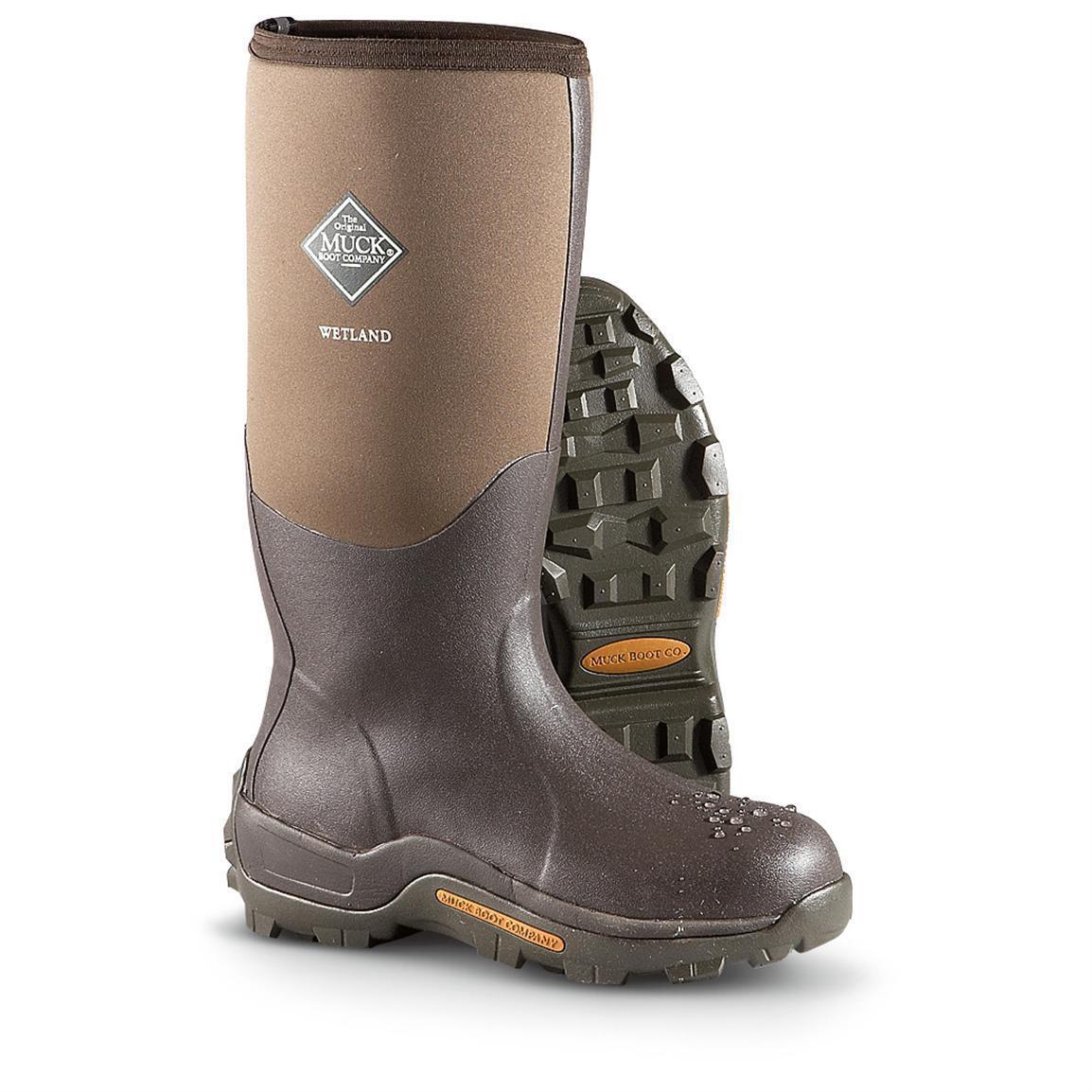 Muck Wetland Boots sizes 5-15 100% waterproof Tan/Bark WET-998K