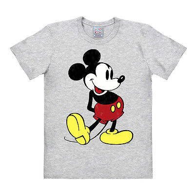 Easy Fit Shirt (Comics - Disney - Mickey Mouse Retro Easyfit T-Shirt - grau-meliert - LOGOSHIRT)