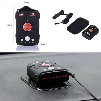 Multi Function Car Radar Detector 360 Degree Voice Warning 16-Band LED Display