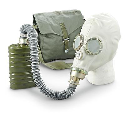 NEW GAS MASK WITH BAG SEALED FILTER AND HOSE EXCELLENT CONDITION HALLOWEEN