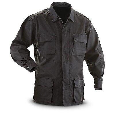 ARMY BDU SHIRT HEAVY DUTY FABRIC 4 POCKETS BLACK TWILL Sizes (2 Pocket Bdu Shirt)