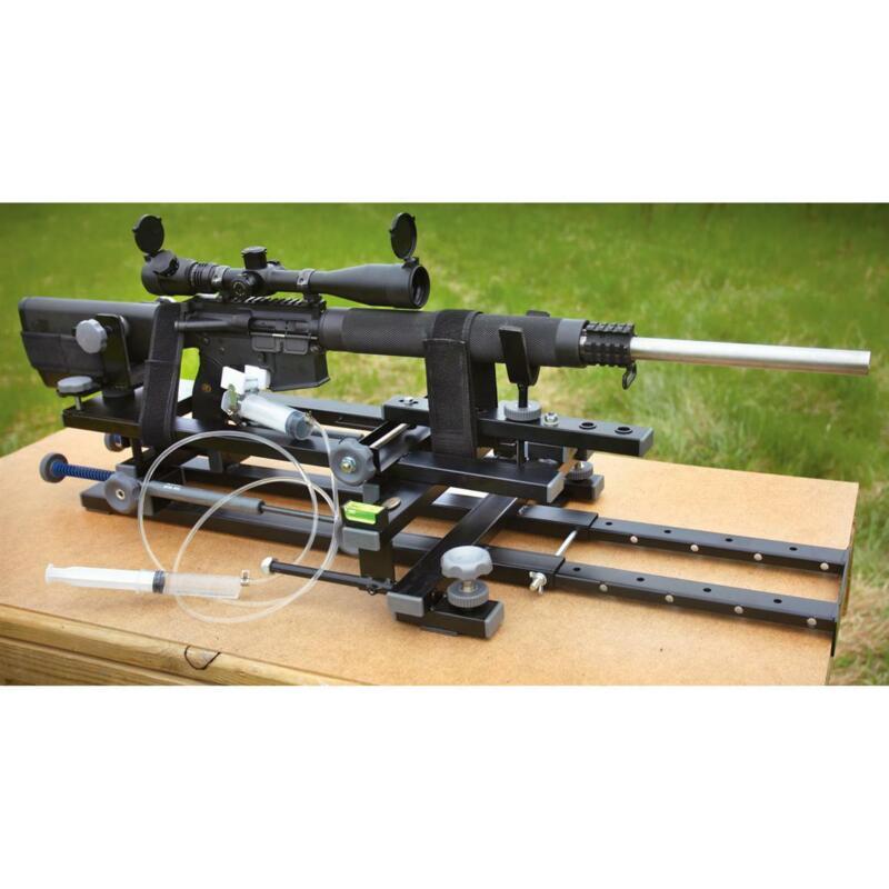 Portable Rifle Rest Durable Metal Frame Heavy Duty Hydraulic Trigger Dual Rails