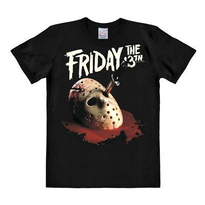 LOGOSHIRT - Film - Freitag der 13 - Jason - Maske - T-Shirt - schwarz  ()