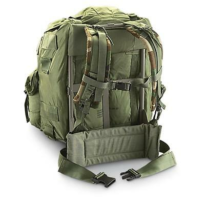 US Army ALICE Large Field Pack OD Green w/ Frame, Straps, Belt USGI used gd